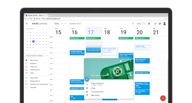 Nouvelle Interface Agenda Google Gsuite