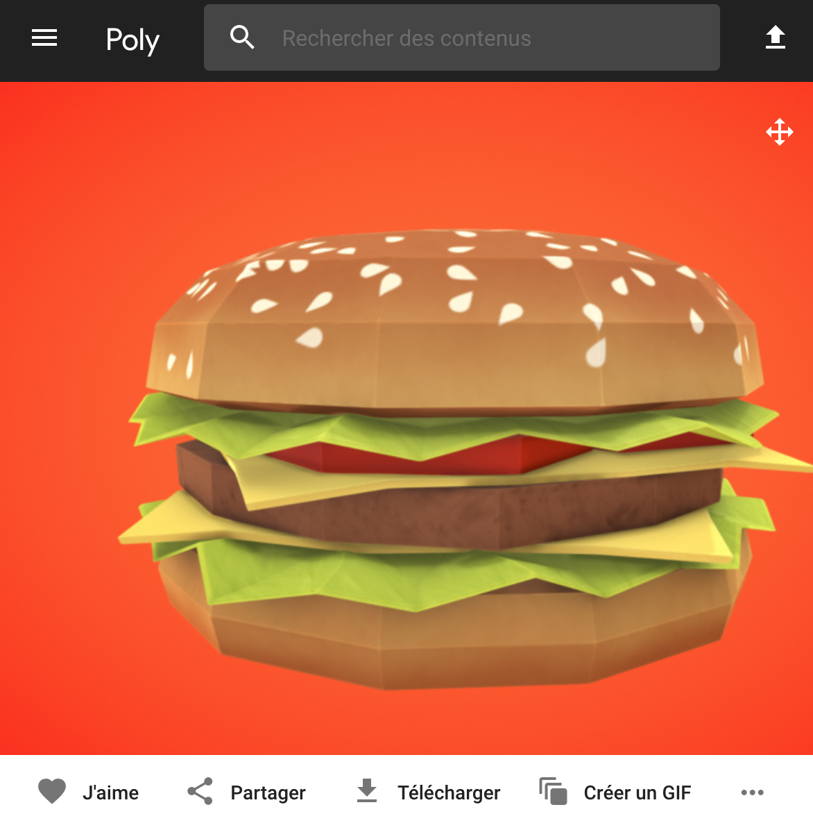 Poly by Google - cheeseburger