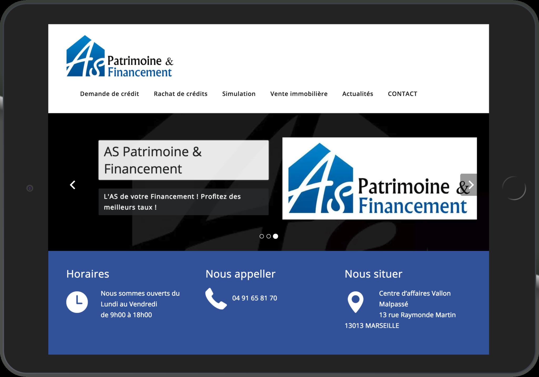 Site Web WordPress pour AS Patrimoine et Financements