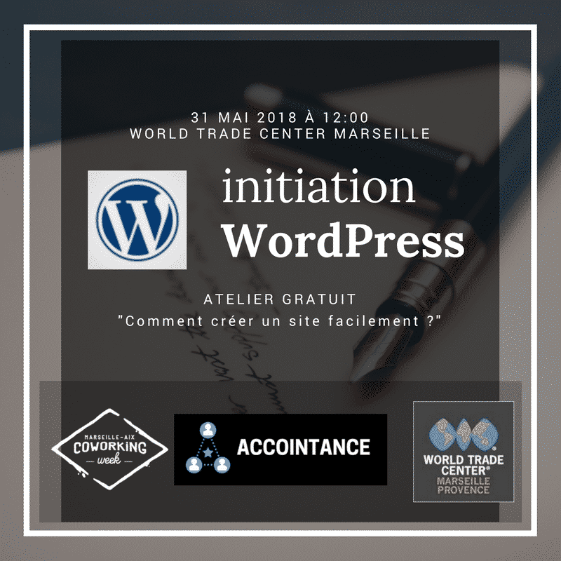 ATELIER GRATUIT : initiation WORDPRESS avec la Coworking Week