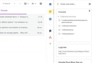 raccourci taches Gmail