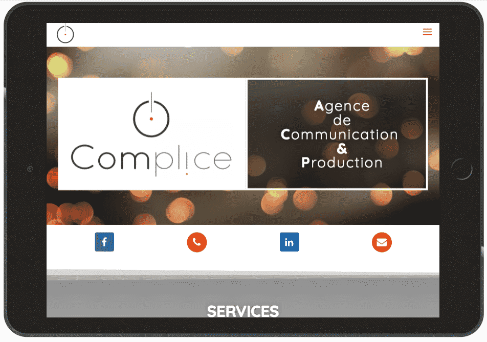 Complice Communication – site web WordPress